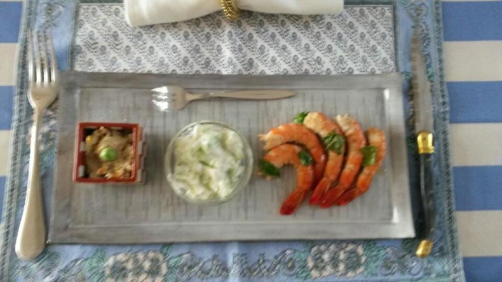 Assiette de crevette